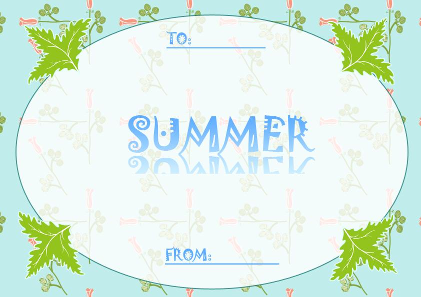 夏のメッセージカード2