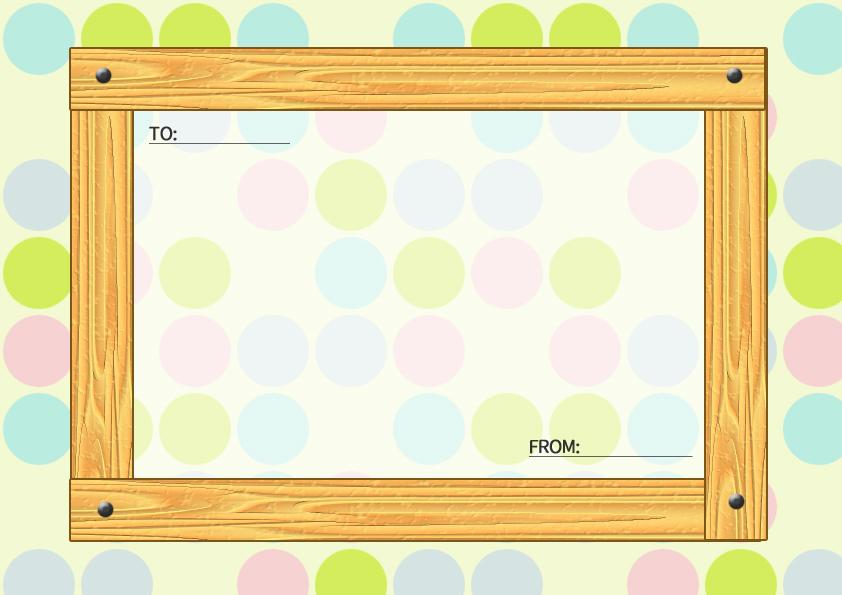 木目のメッセージカード横1